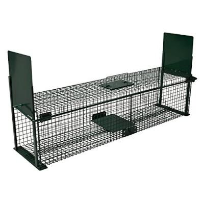 katzenfalle mit zwei eing ngen 100cm gegen katzen. Black Bedroom Furniture Sets. Home Design Ideas